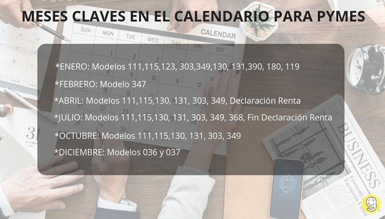 Calendario Fiscal 2019 Autonomos.Calendario Fiscal Para Pymes 2019