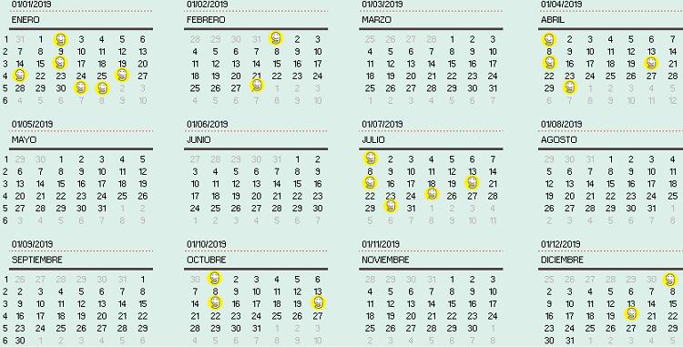 CALENDARIO PYMES 2019