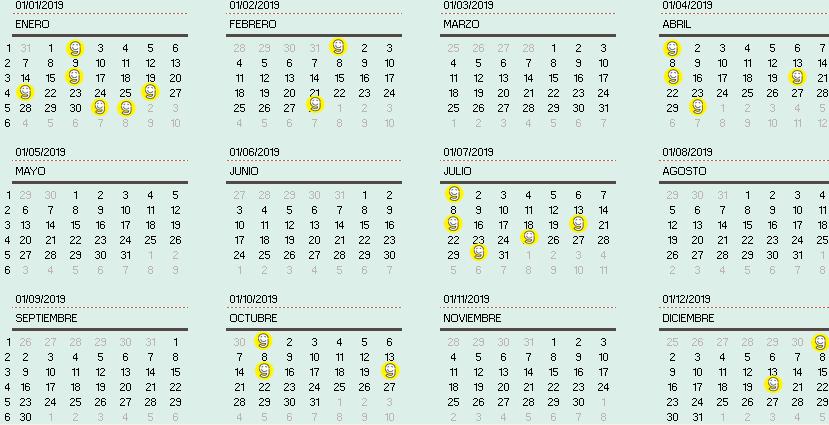 Calendario Fiscal.Calendario Fiscal Para Pymes 2019